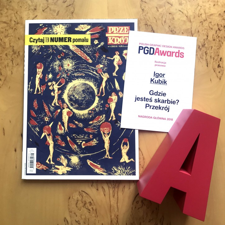 Igor Kubik z Polish Graphic Design Awards fot: przekoroj.pl